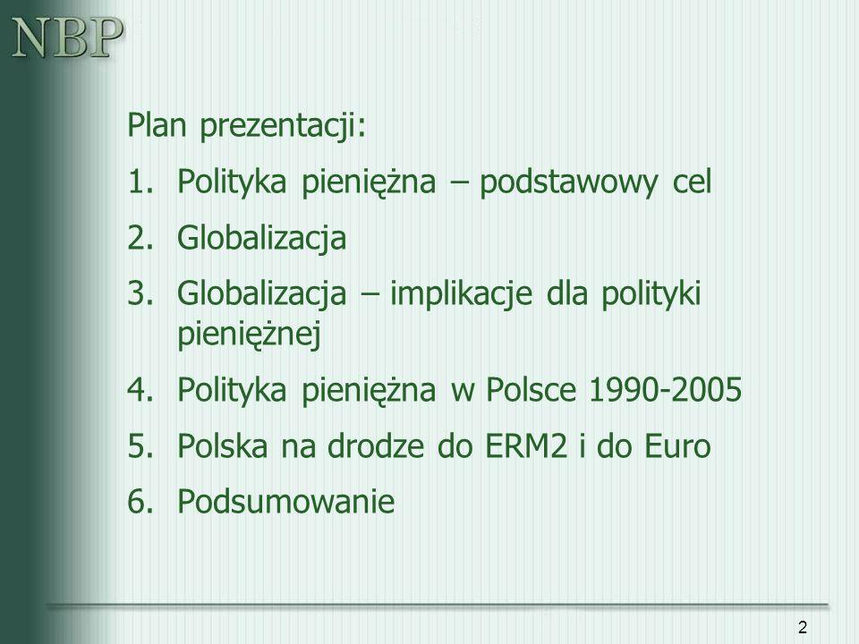 3 1. Polityka pieniężna - podstawowy cel