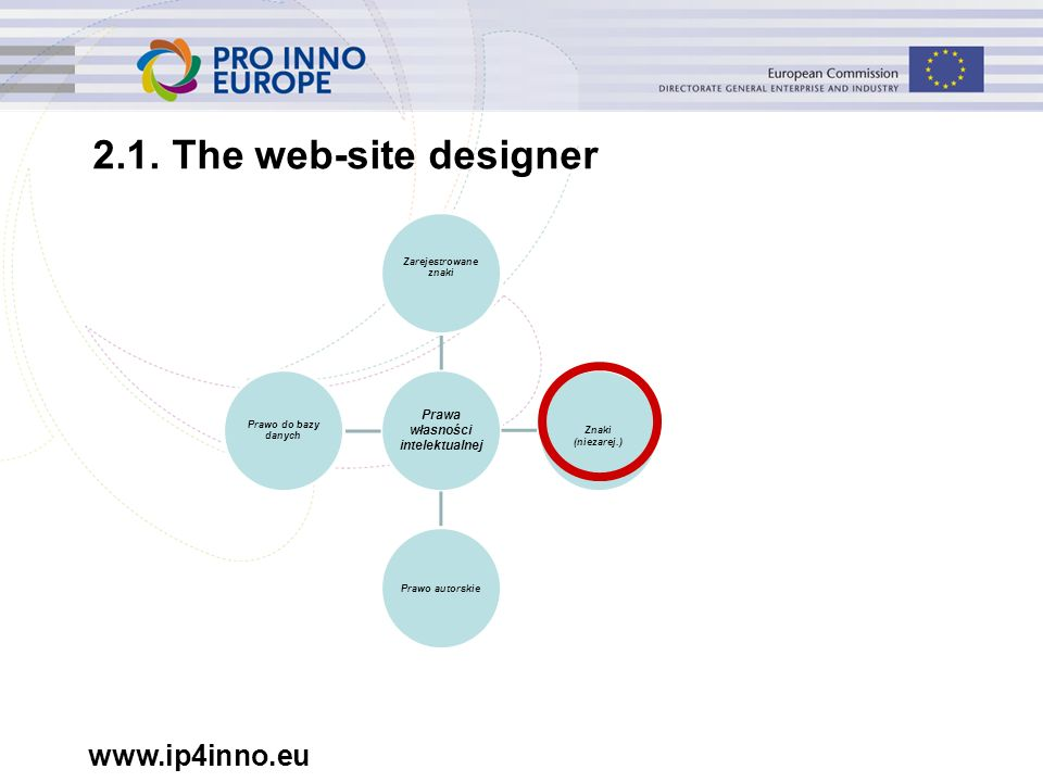 www.ip4inno.eu 2.1. The web-site designer