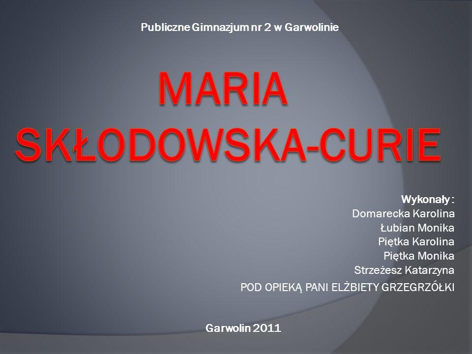 UPAMIĘTNIENIE - medal z wizerunkiem Marii Skłodowskiej- Curie wydany przez Skarbnicę Narodową w setną rocznicę otrzymania przez nią Nagrody Nobla, - filmy biograficzne, - liczne pomniki, - wiele miejsc nazwanych imieniem Marii Skłodowskiej-Curie.