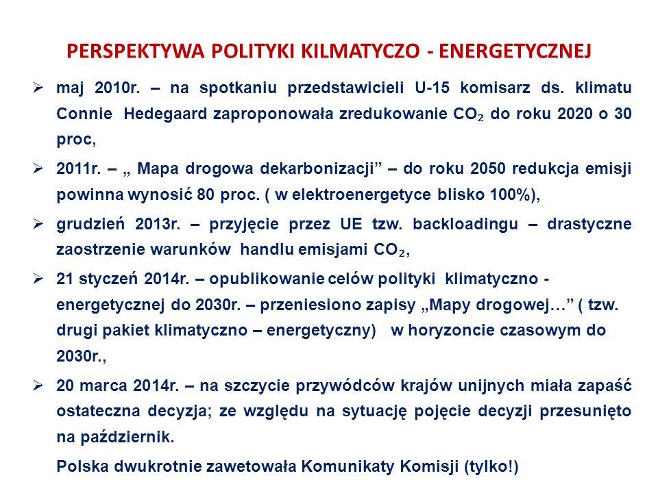 PERSPEKTYWA POLITYKI KILMATYCZO - ENERGETYCZNEJ  maj 2010r.