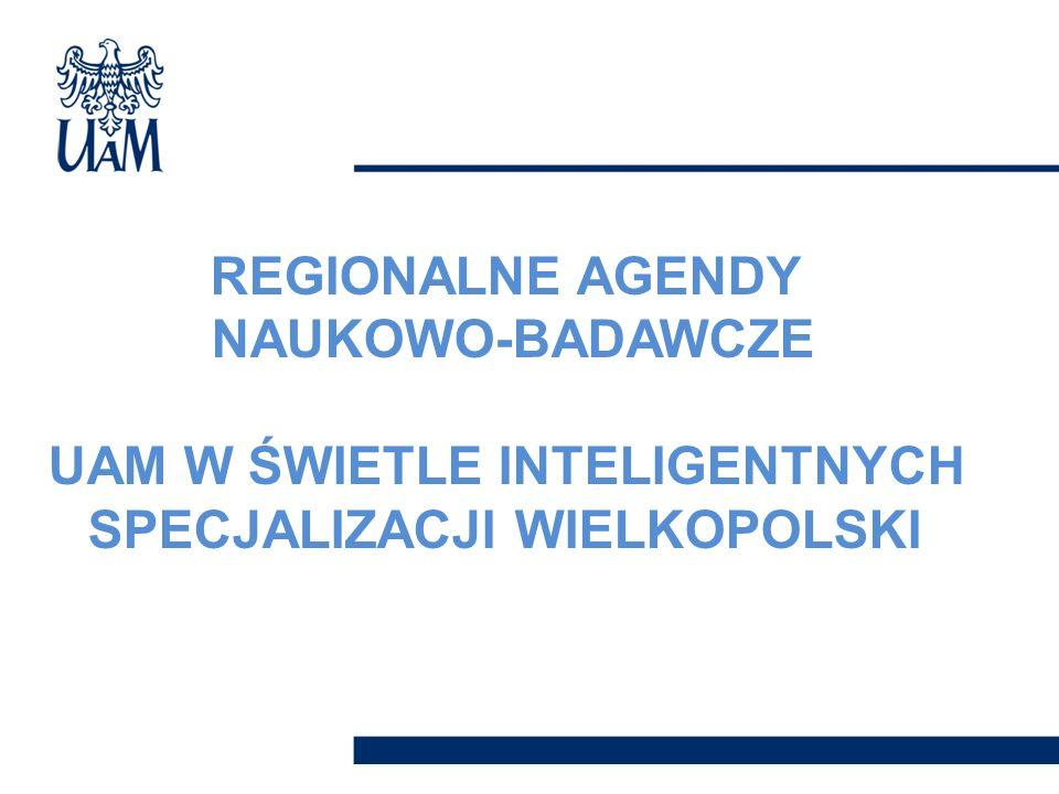REGIONALNE AGENDY NAUKOWO-BADAWCZE UAM W ŚWIETLE INTELIGENTNYCH SPECJALIZACJI WIELKOPOLSKI