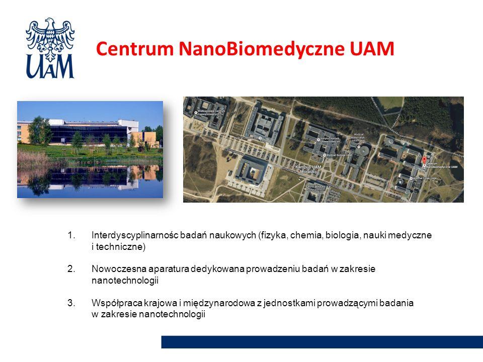1.Interdyscyplinarnośc badań naukowych (fizyka, chemia, biologia, nauki medyczne i techniczne) 2.Nowoczesna aparatura dedykowana prowadzeniu badań w z