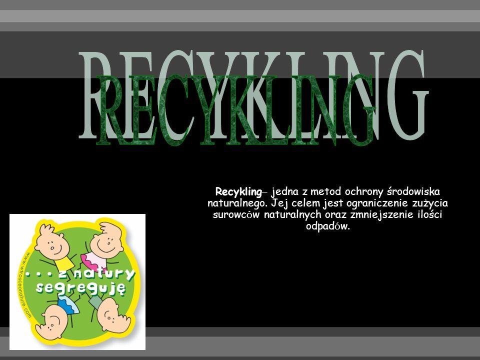 Recykling – jedna z metod ochrony środowiska naturalnego.