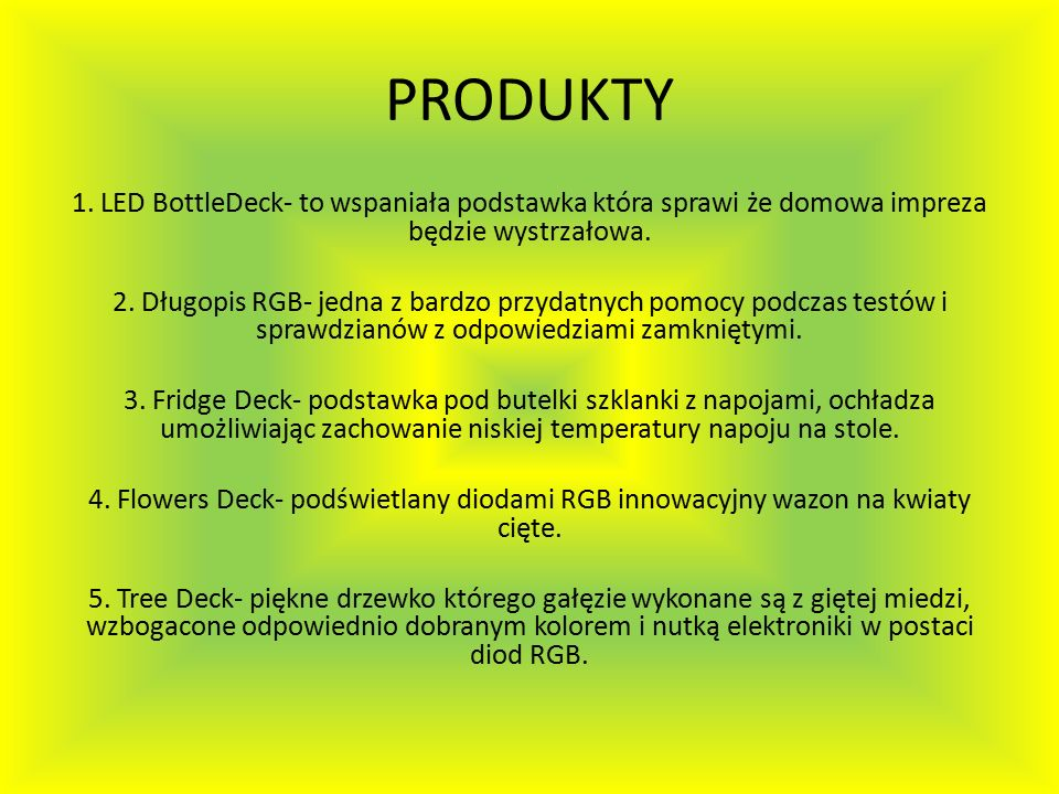 PRODUKTY 1.