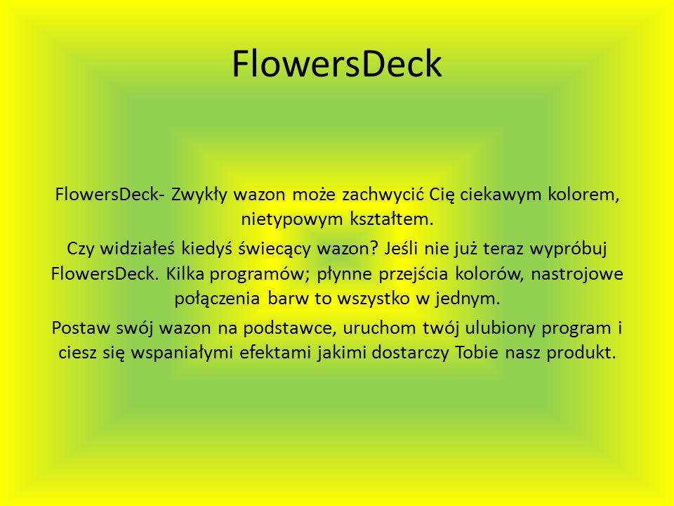 FlowersDeck FlowersDeck- Zwykły wazon może zachwycić Cię ciekawym kolorem, nietypowym kształtem.