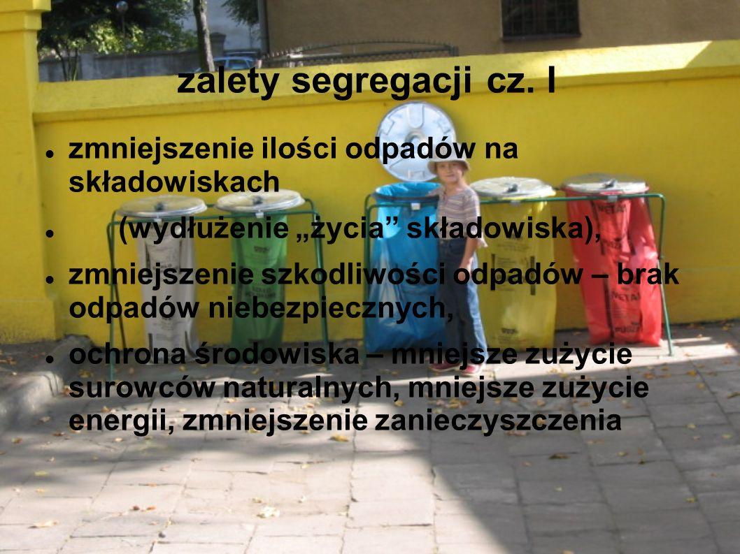 zalety segregacji cz.