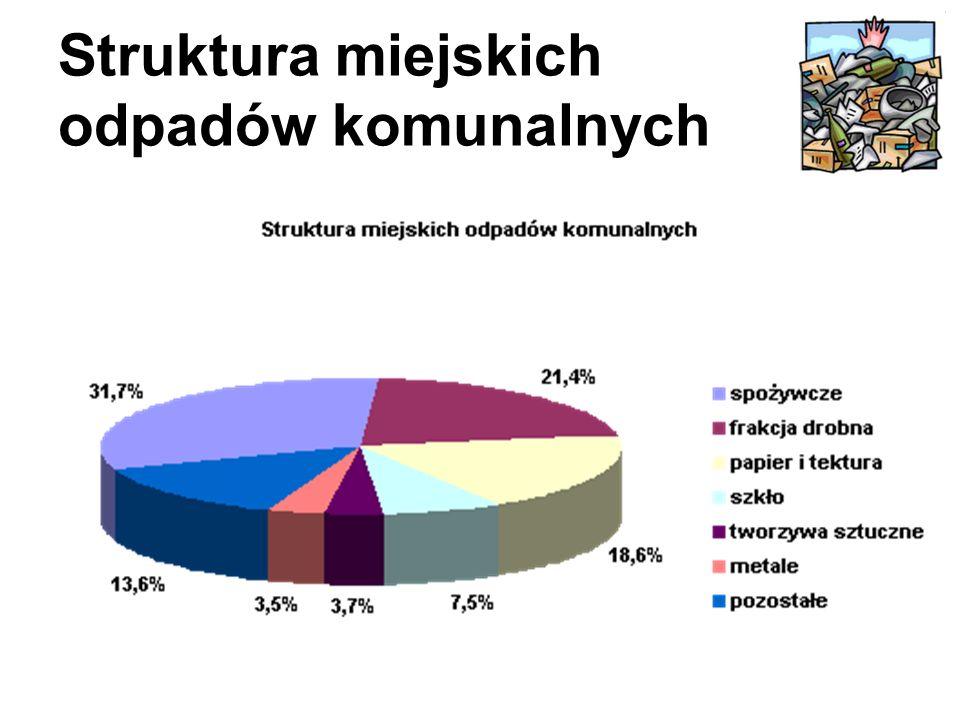 Struktura miejskich odpadów komunalnych
