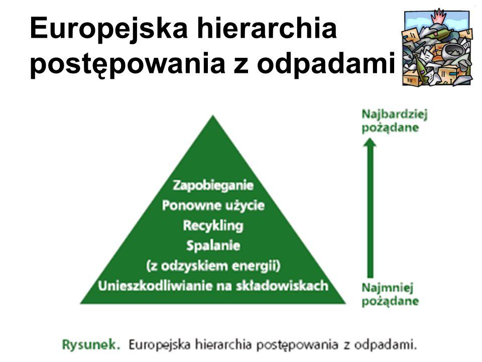 Europejska hierarchia postępowania z odpadami
