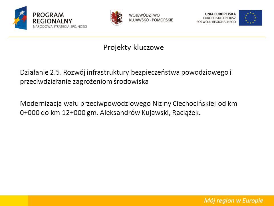 Mój region w Europie Projekty kluczowe Działanie 2.5. Rozwój infrastruktury bezpieczeństwa powodziowego i przeciwdziałanie zagrożeniom środowiska Mode