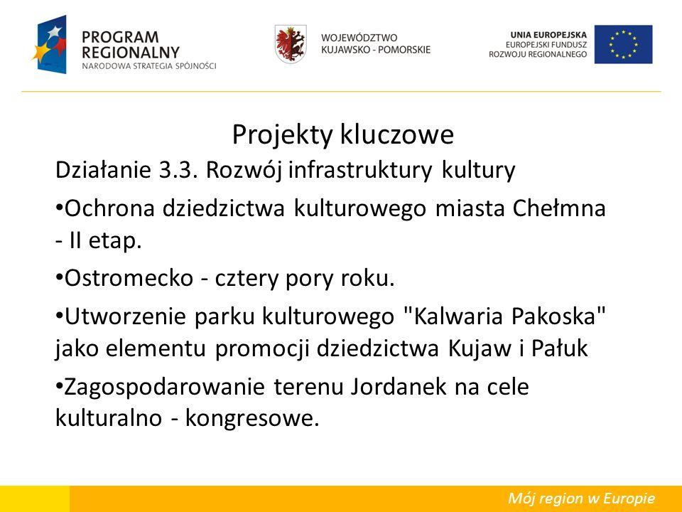Mój region w Europie Projekty kluczowe Działanie 3.3. Rozwój infrastruktury kultury Ochrona dziedzictwa kulturowego miasta Chełmna - II etap. Ostromec