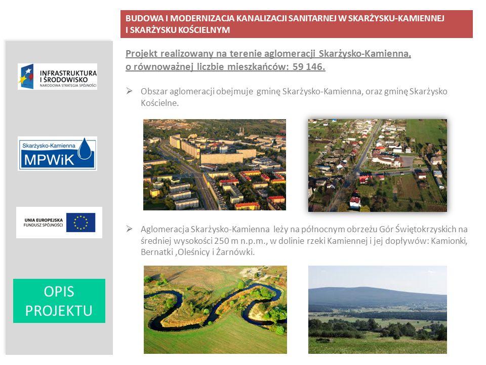 OPIS PROJEKTU Projekt realizowany na terenie aglomeracji Skarżysko-Kamienna, o równoważnej liczbie mieszkańców: 59 146.