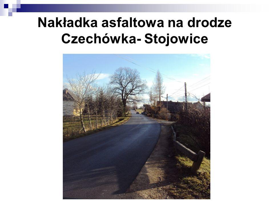 Nakładka asfaltowa na drodze Czechówka- Stojowice