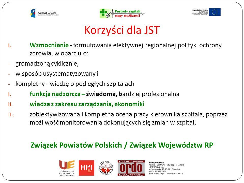 I. Wzmocnienie - formułowania efektywnej regionalnej polityki ochrony zdrowia, w oparciu o: - gromadzoną cyklicznie, - w sposób usystematyzowany i - k