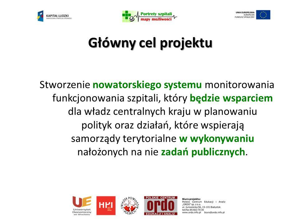 Stworzenie nowatorskiego systemu monitorowania funkcjonowania szpitali, który będzie wsparciem dla władz centralnych kraju w planowaniu polityk oraz działań, które wspierają samorządy terytorialne w wykonywaniu nałożonych na nie zadań publicznych.
