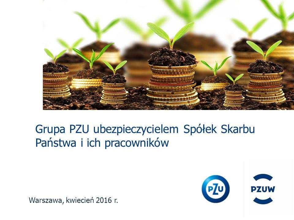 Warszawa, kwiecień 2016 r. Grupa PZU ubezpieczycielem Spółek Skarbu Państwa i ich pracowników