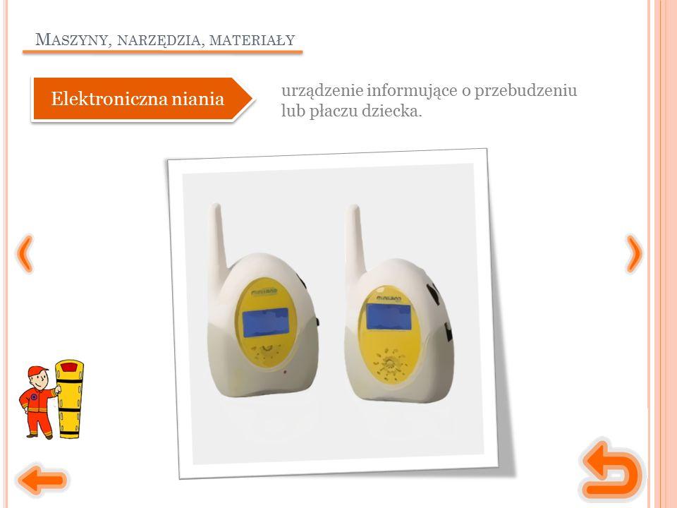 M ASZYNY, NARZĘDZIA, MATERIAŁY urządzenie informujące o przebudzeniu lub płaczu dziecka. Elektroniczna niania
