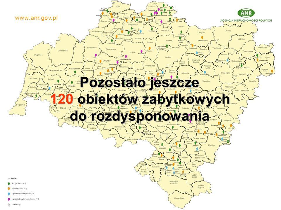 Pozostało jeszcze 120 obiektów zabytkowych 120 obiektów zabytkowych do rozdysponowania