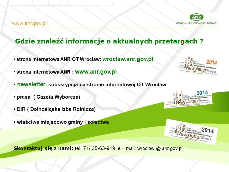 www.anr.gov.pl Gdzie znaleźć informacje o aktualnych przetargach .