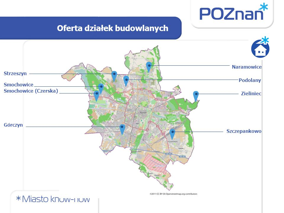 22 nieruchomości o pow.od 350 do 550 m² w rejonie ul.