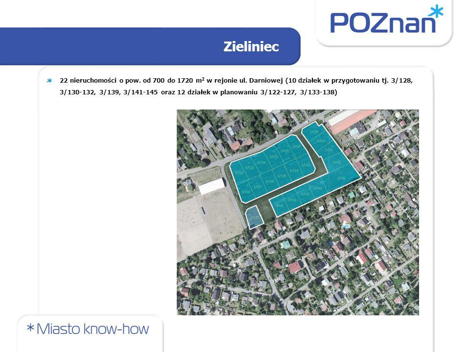 Zieliniec 22 nieruchomości o pow. od 700 do 1720 m 2 w rejonie ul.