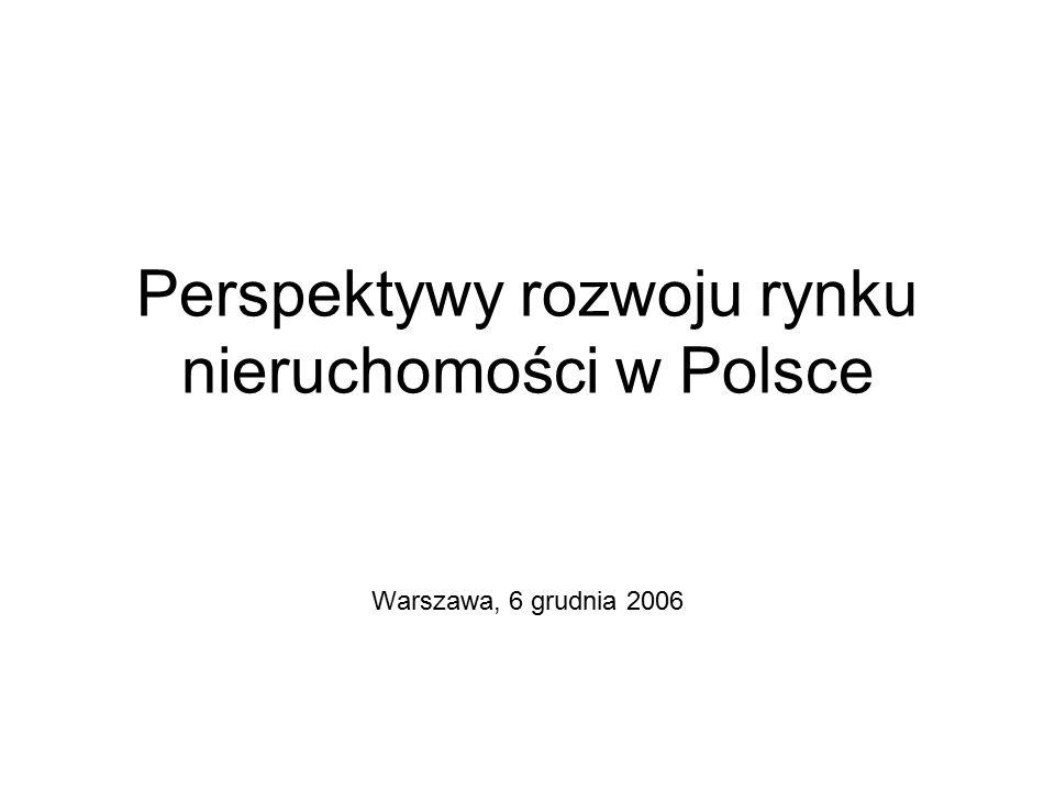 Perspektywy rozwoju rynku nieruchomości w Polsce Warszawa, 6 grudnia 2006