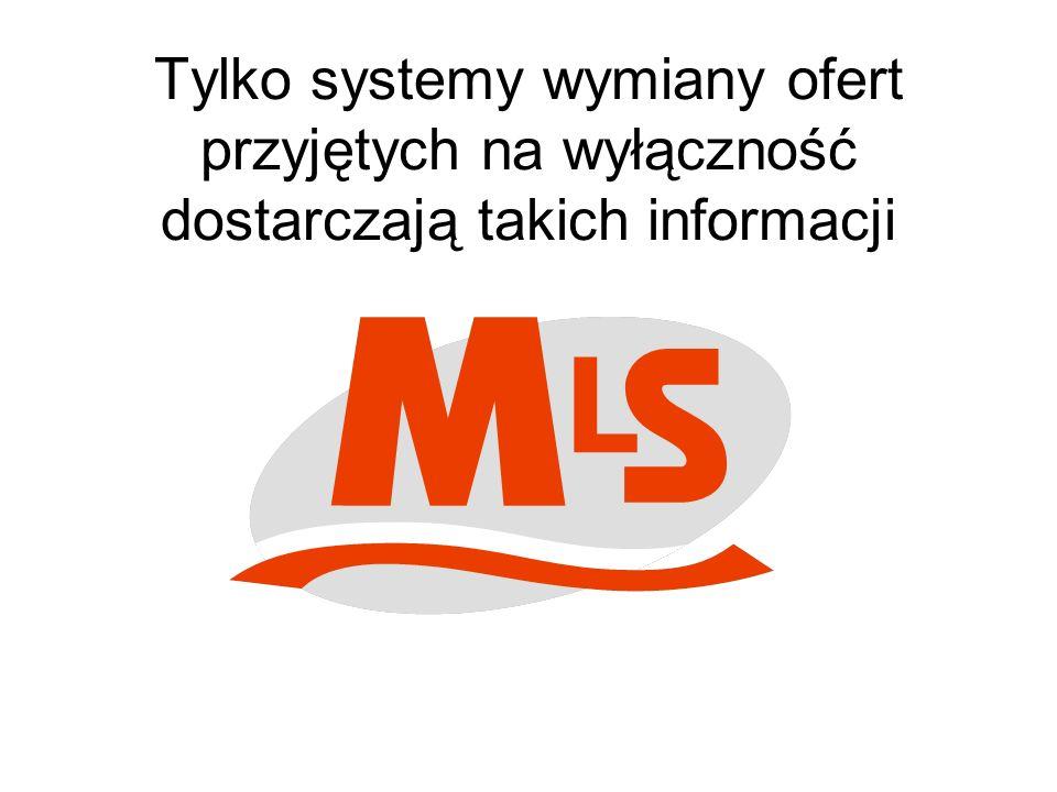 Tylko systemy wymiany ofert przyjętych na wyłączność dostarczają takich informacji