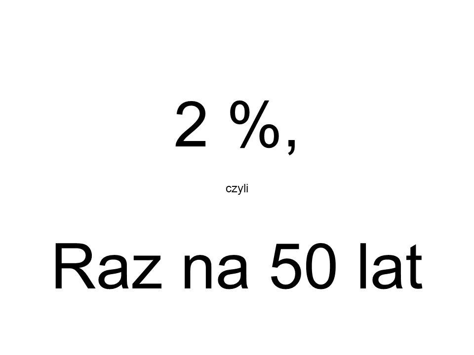 2 %, czyli Raz na 50 lat