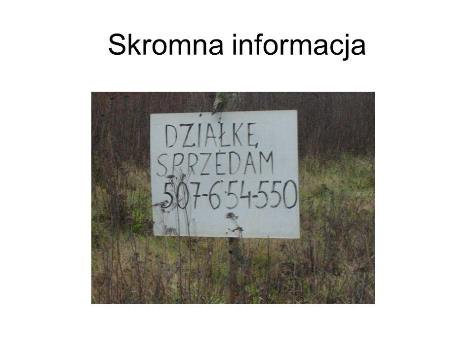 Skromna informacja