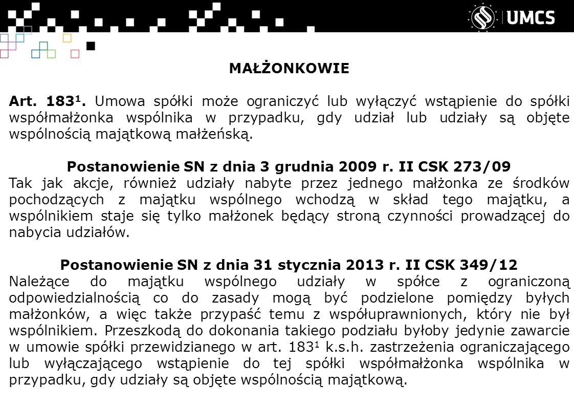 MAŁŻONKOWIE Art. 183 1.