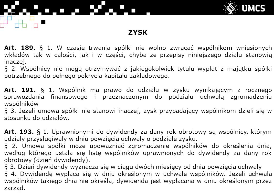 ZYSK Art.189. § 1.