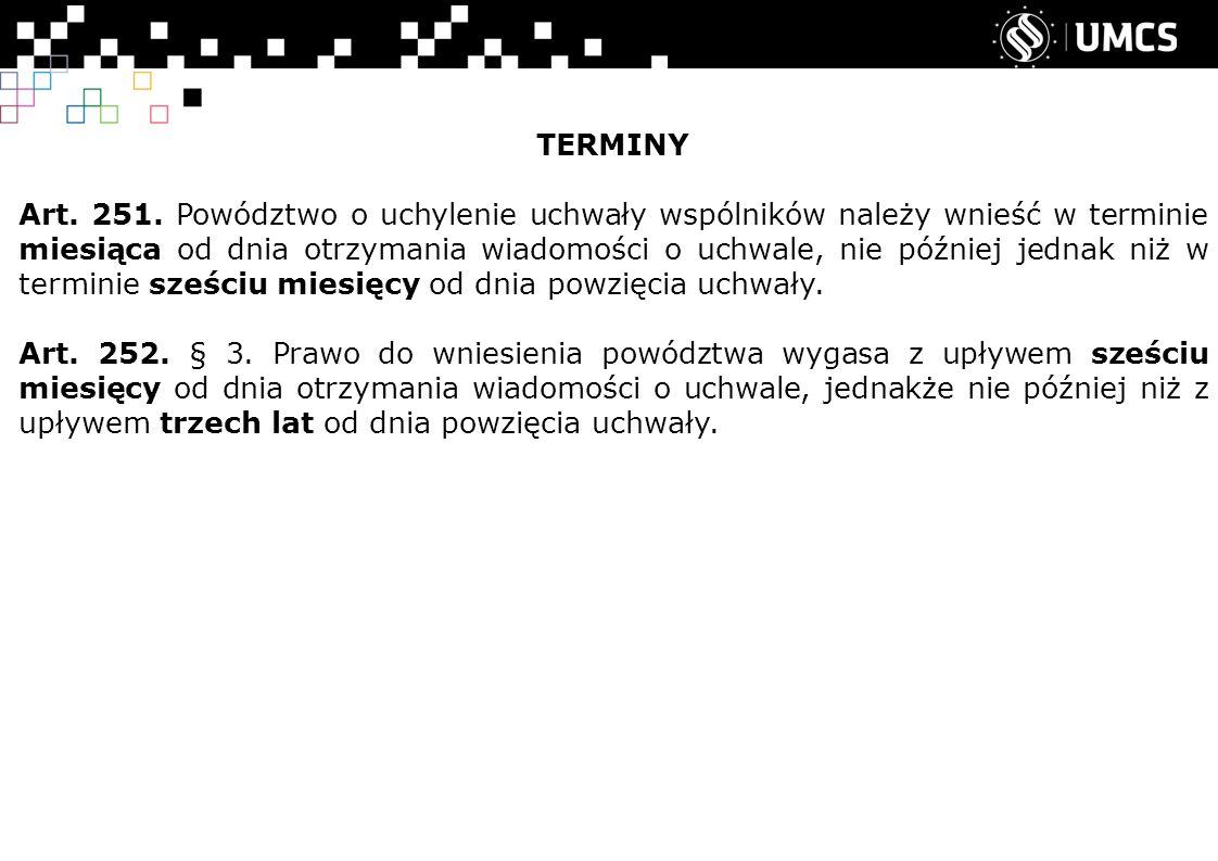 TERMINY Art. 251.