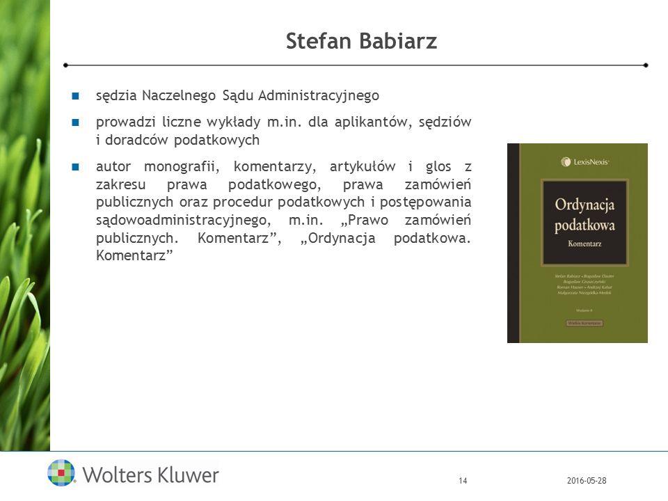 2016-05-2814 Stefan Babiarz sędzia Naczelnego Sądu Administracyjnego prowadzi liczne wykłady m.in.