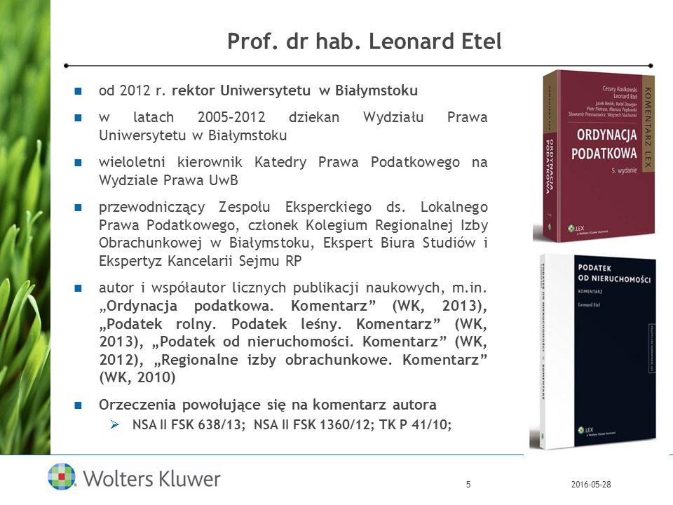 2016-05-285 Prof. dr hab. Leonard Etel od 2012 r.