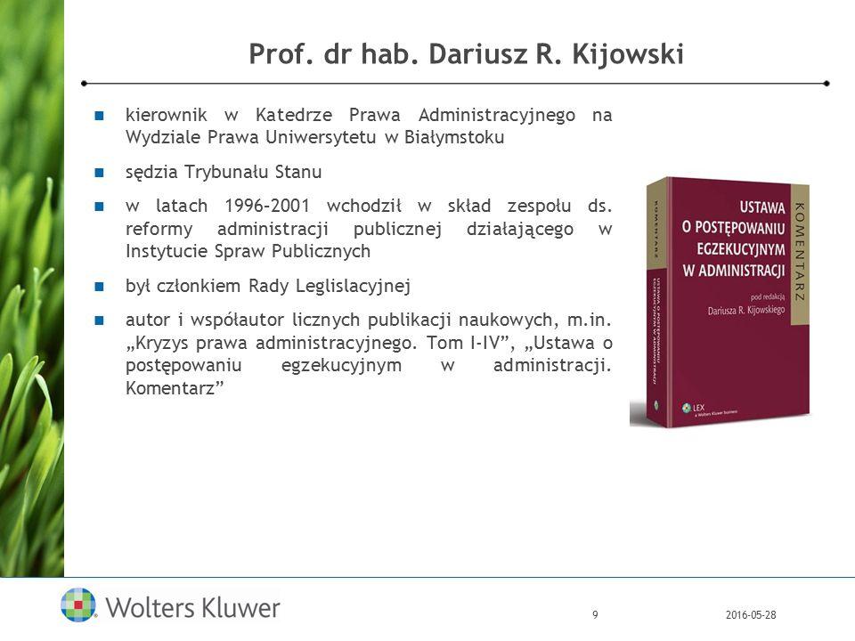 2016-05-289 Prof. dr hab. Dariusz R.