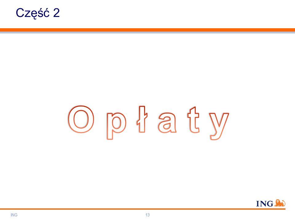 Do not put content on the brand signature area Orange RGB= 255,102,000 Light blue RGB= 180,195,225 Dark blue RGB= 000,000,102 Grey RGB= 150,150,150 ING colour balance Guideline www.ing-presentations.intranet Część 2 ING13