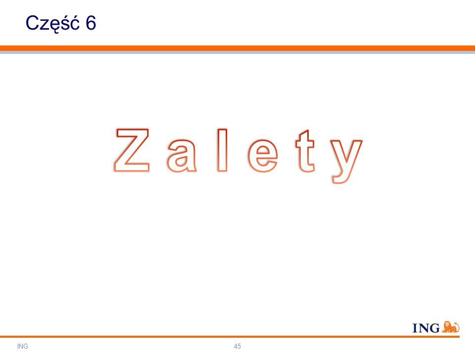 Do not put content on the brand signature area Orange RGB= 255,102,000 Light blue RGB= 180,195,225 Dark blue RGB= 000,000,102 Grey RGB= 150,150,150 ING colour balance Guideline www.ing-presentations.intranet Część 6 ING45