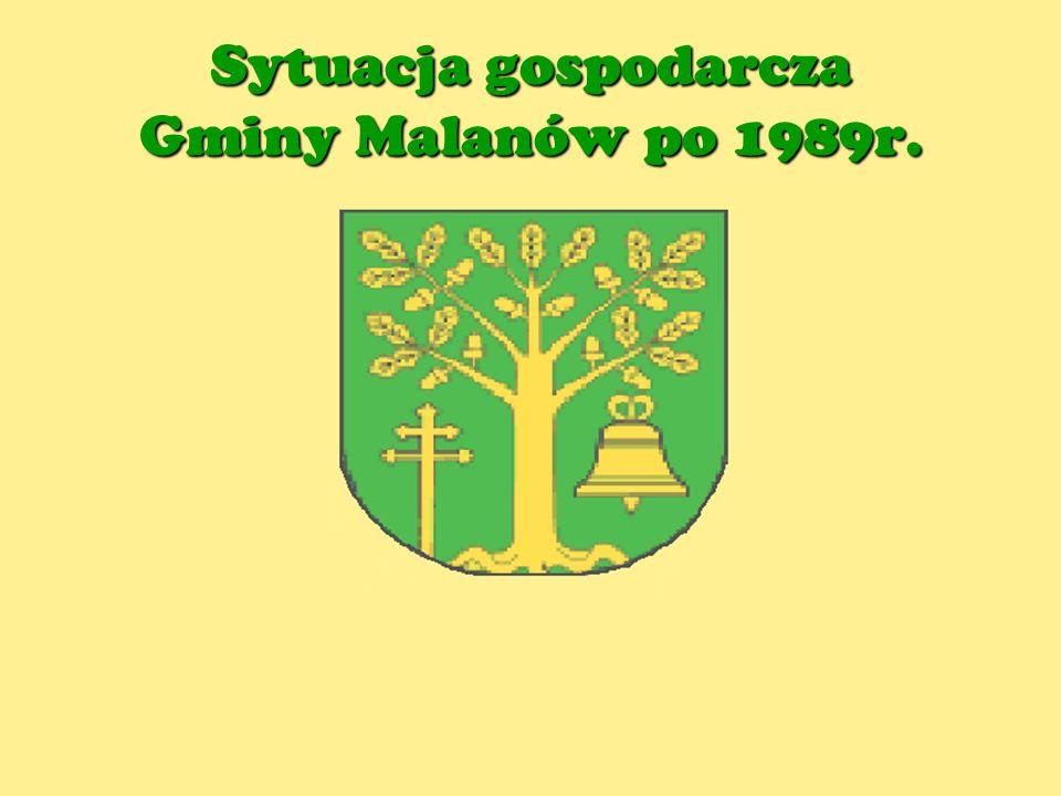 Sytuacja gospodarcza Gminy Malanów po 1989r.