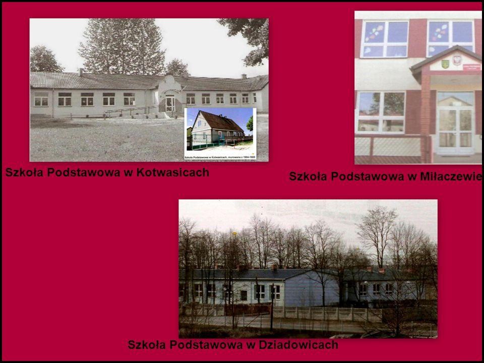 Szkoła Podstawowa w Kotwasicach Szkoła Podstawowa w Miłaczewie Szkoła Podstawowa w Dziadowicach