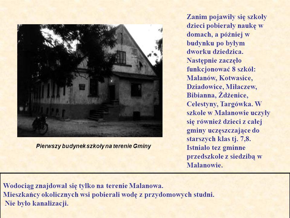 Wodociąg znajdował się tylko na terenie Malanowa.