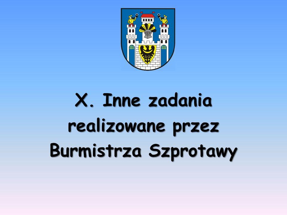 X. Inne zadania realizowane przez Burmistrza Szprotawy