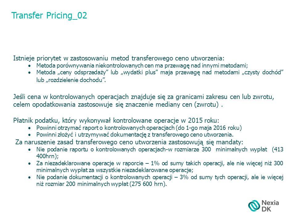"""Transfer Pricing_02 Istnieje priorytet w zastosowaniu metod transferowego ceno utworzenia:  Metoda porównywania niekontrolowanych cen ma przewagę nad innymi metodami;  Metoda """"ceny odsprzedaży lub """"wydatki plus maja przewagę nad metodami """"czysty dochód lub """"rozdzielenie dochodu ."""