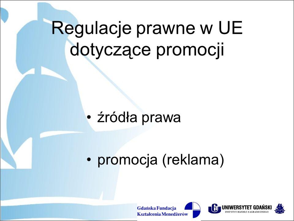 źródła prawa promocja (reklama)
