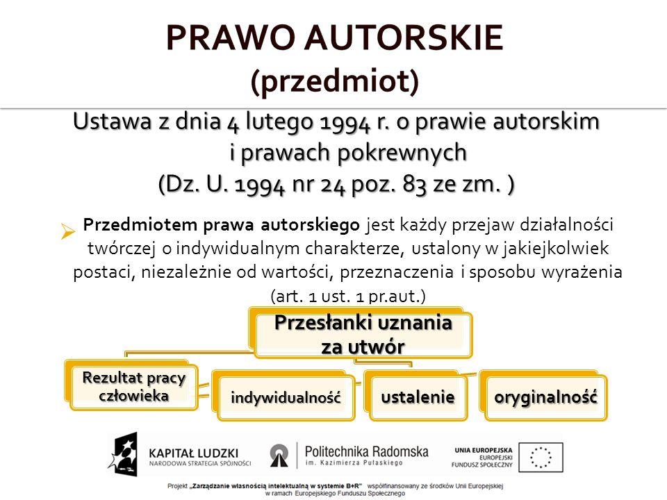 Ustawa z dnia 4 lutego 1994 r. o prawie autorskim i prawach pokrewnych (Dz.
