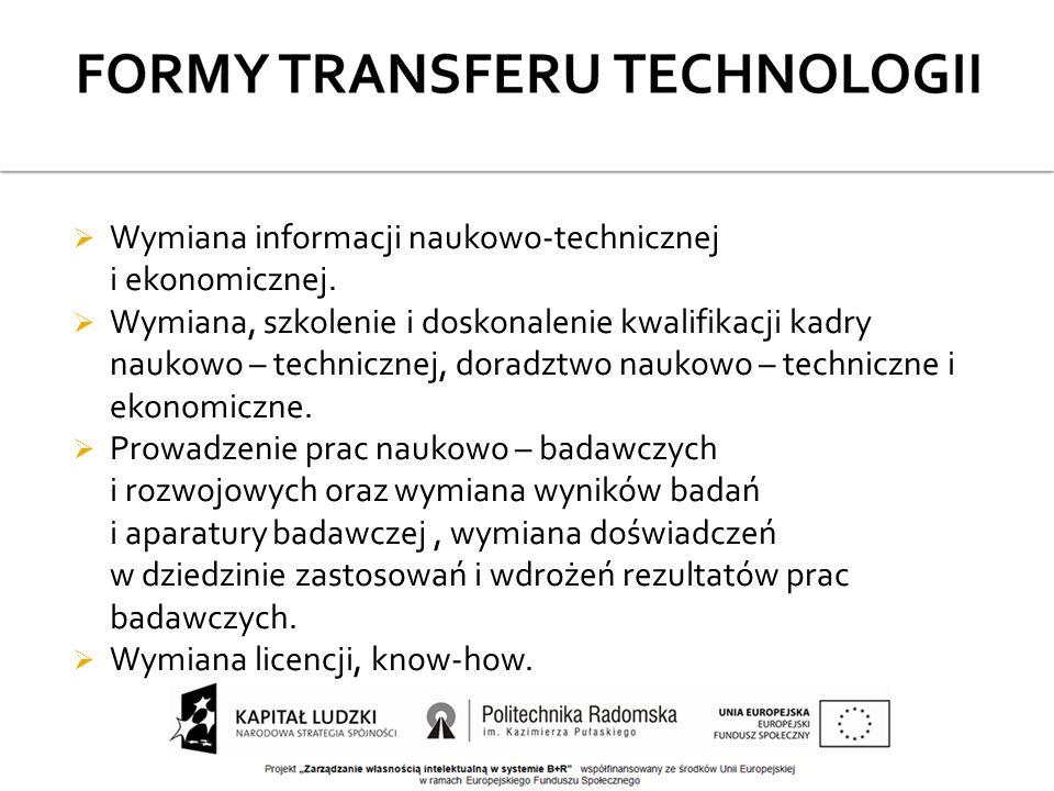  Wymiana informacji naukowo-technicznej i ekonomicznej.