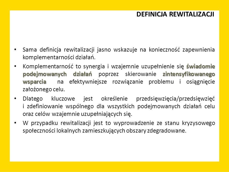 NOWE PODEJŚCIE DO REWITALIZACJI BAZA: Krajowa Polityka Miejska 2023 FUNDUSZE EUROPEJSKIE (Wytyczne w zakresie rewitalizacji w programach operacyjnych na lata 2014-2020) FUNDUSZE, INSTRUMENTY KRAJOWE - profilowane i optymalizowane pod kątem rewitalizacji INFORMACJA, EDUKACJA I WSPARCIE MERYTORYCZNE projekty pilotażowe, wymiana dobrych praktyk, publikacje, warsztaty, szkolenia, centra wiedzy UZUPEŁNIENIE: ROZWIĄZANIA LEGISLACYJNE Ustawa o rewitalizacji, inne regulacje