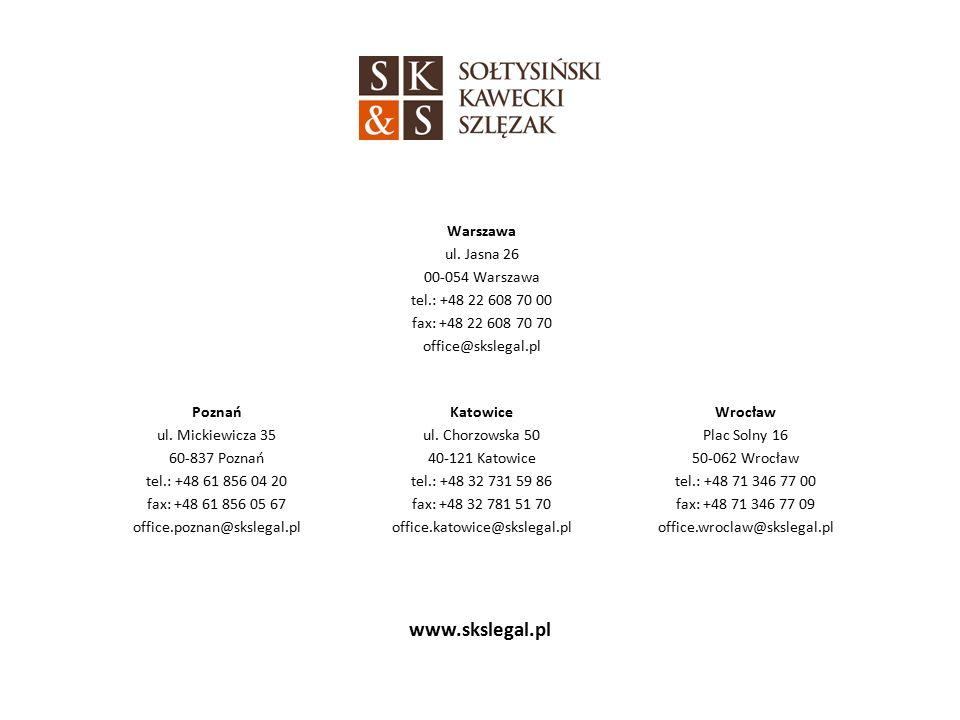 www.skslegal.pl Warszawa ul.