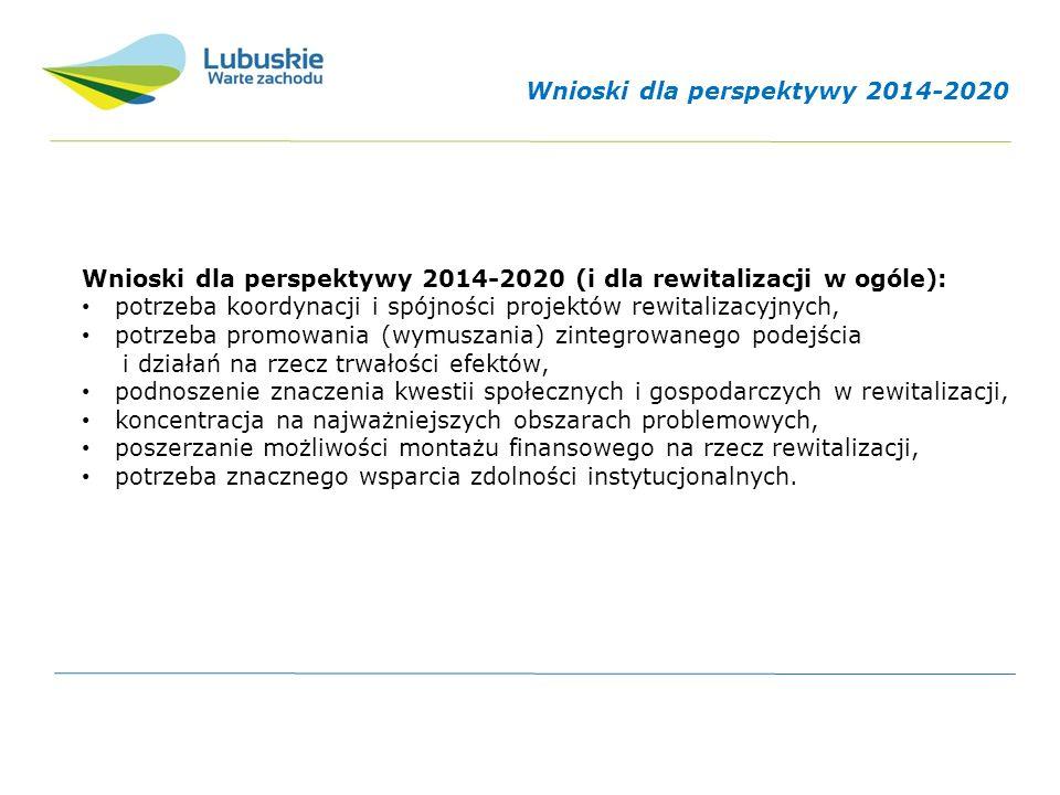 """Wytyczne w zakresie rewitalizacji w programach operacyjnych na lata 2014-2020 ramowy dokument warunkujący wydawanie środków unijnych na lata 2014-2020 na przedsięwzięcia rewitalizacyjne; adresatami są instytucje zarządzające regionalnymi i krajowymi programami operacyjnymi oraz beneficjenci; dotyczą kryteriów i wymogów, jakie muszą spełniać projekty rewitalizacyjne, które ubiegają się o wsparcie ze środków UE; główny nacisk został położony na odpowiednie przygotowanie programów rewitalizacji stanowiących wymóg konieczny uznania projektu z niego wynikającego za """"rewitalizacyjny ."""