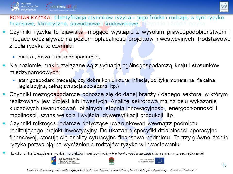 """Projekt współfinansowany przez Unię Europejską ze środków Funduszu Spójności w ramach Pomocy Technicznej Programu Operacyjnego """"Infrastruktura i Środo"""