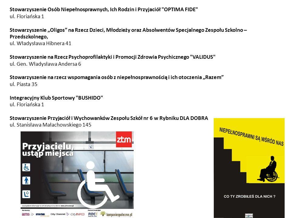 Stowarzyszenie Osób Niepełnosprawnych, Ich Rodzin i Przyjaciół OPTIMA FIDE ul.
