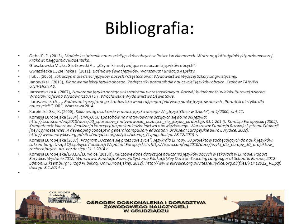 Bibliografia: Gębal P. E.